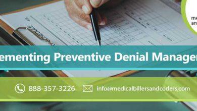 Implementing Preventive Denial Management