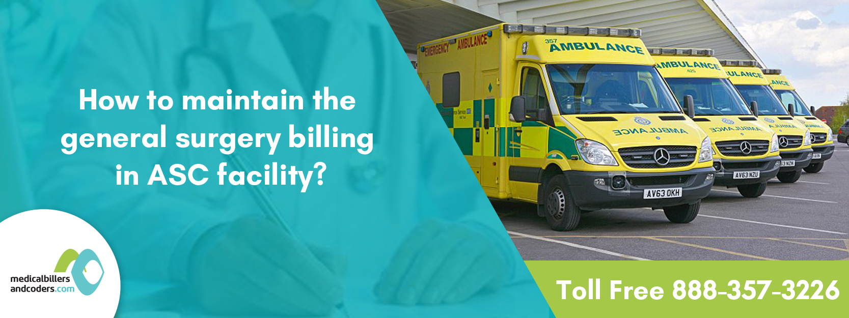 How to maintain the general surgery billing in ASC facility?