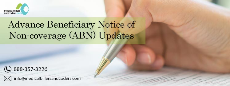 Advance Beneficiary Notice of Non-coverage (ABN) Updates