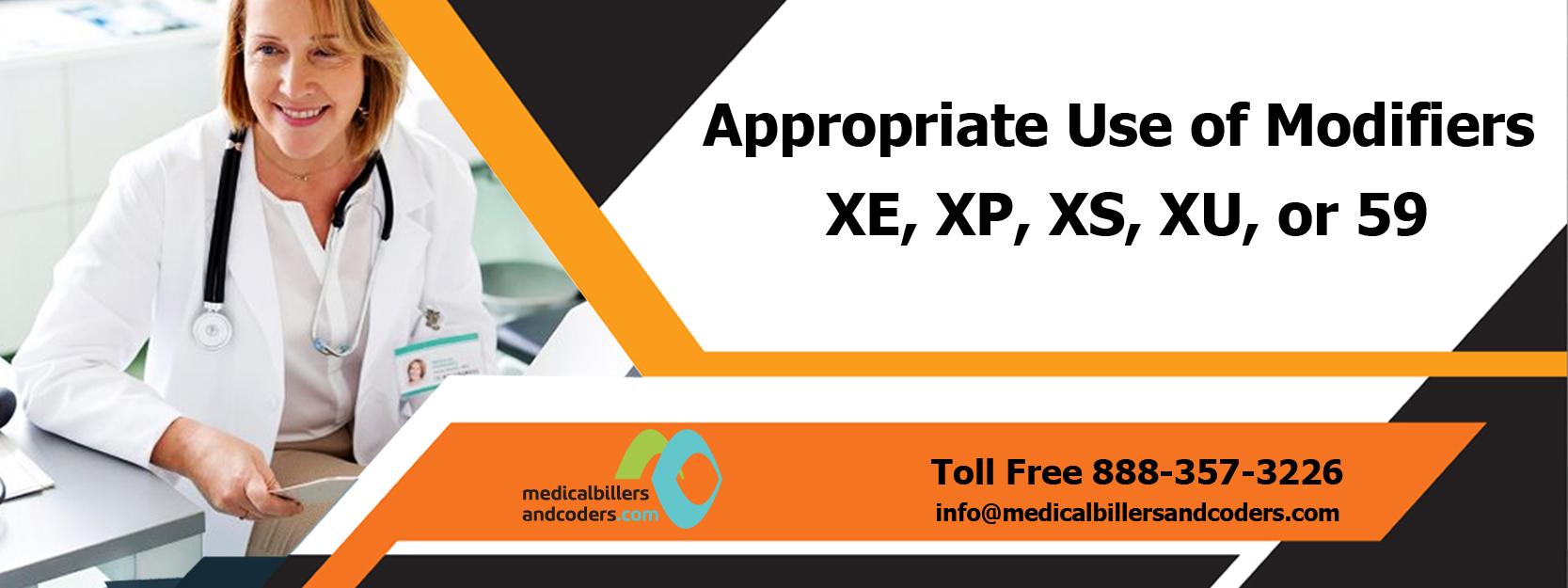 Appropriate Use of Modifiers XE, XP, XS, XU, or 59