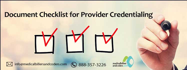 Document Checklist for Provider Credentialing