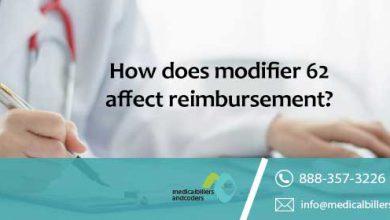 How does modifier 62 affect reimbursement?