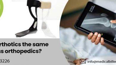 Is orthotics the same as orthopedics?