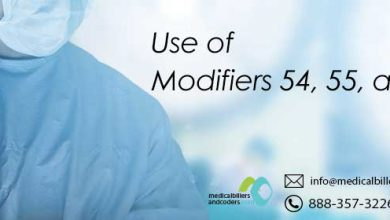 Use of Modifiers 54, 55, and 56