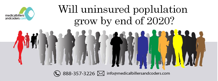 Will uninsured population grow by end of 2020?