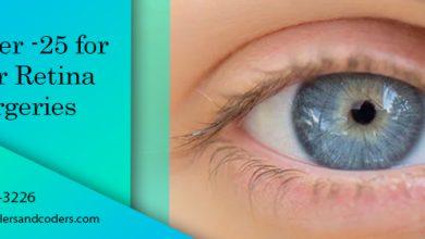 Modifier -25 for Minor Retina Surgeries