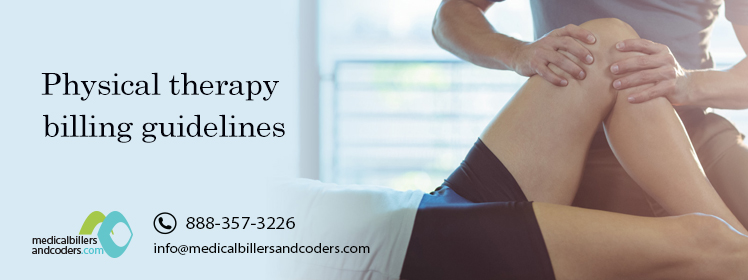 Physical therapy billing guidelines