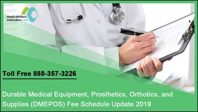 Durable Medical Equipment, Prosthetics, Orthotics, and Supplies (DMEPOS) Fee Schedule Update 2019