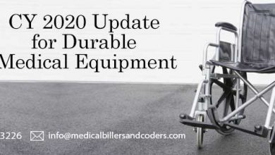 CY 2020 Update for Durable Medical Equipment