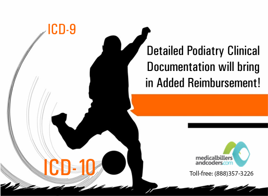 Top 10 Podiatry ICD-9 to ICD-10 Codes