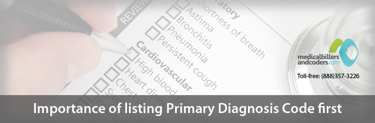 Importance of Listing Primary Diagnosis Code First