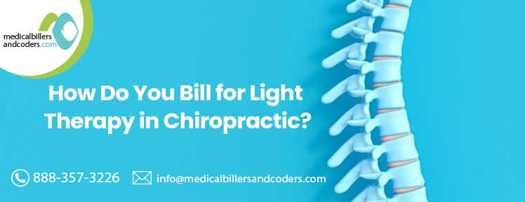 How do you bill light therapy chiropractic?
