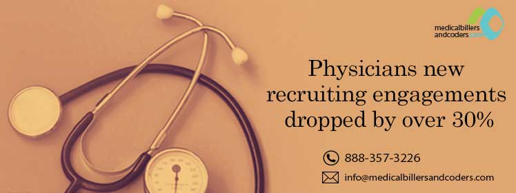 Article - Physicians new recruiting engagements dropped by over 30%